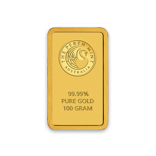 100 g Gold  Perth Mint Gold Bar