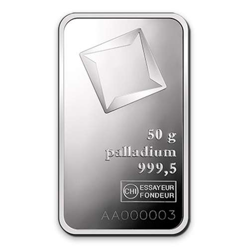 50g Valcambi Palladium Minted Bar