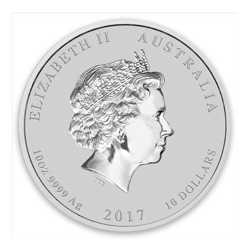 2017 10oz Australian Perth Mint Silver Lunar II: Year of the Rooster
