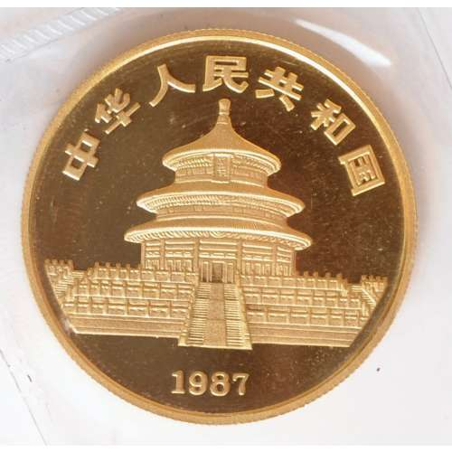 1987 1oz Chinese Gold Panda