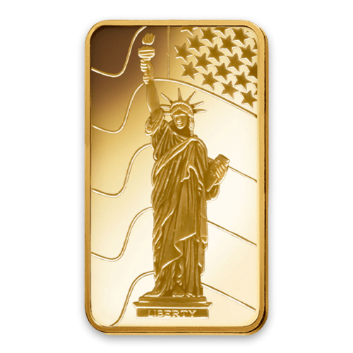 10g PAMP Gold Bar - Liberty