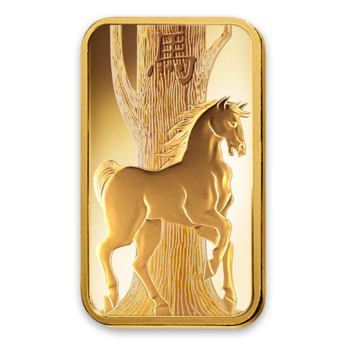 1oz PAMP Gold Bar - Lunar Horse