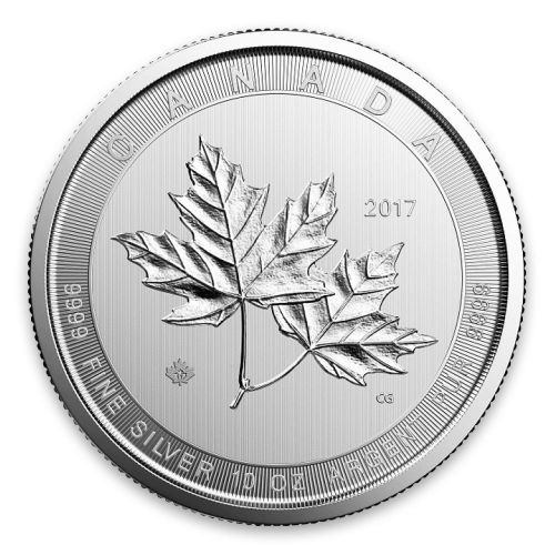 2017 10oz Canadian Silver Magnificent Maple Leaves