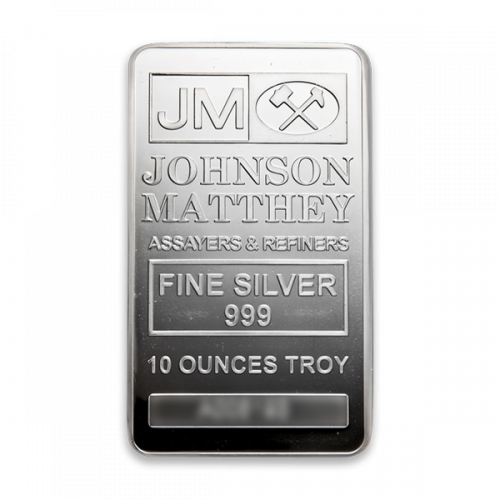 10oz Johnson Matthey Silver Bar