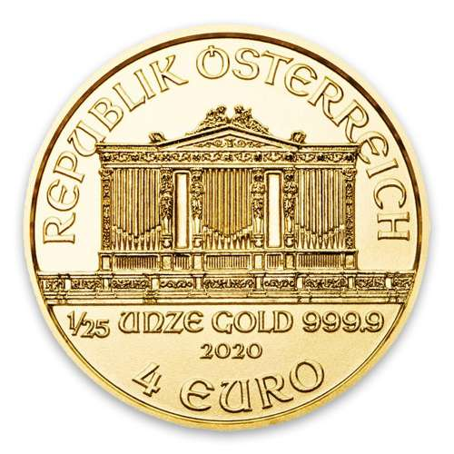 2020 1/25oz Austrian Gold Philharmonic