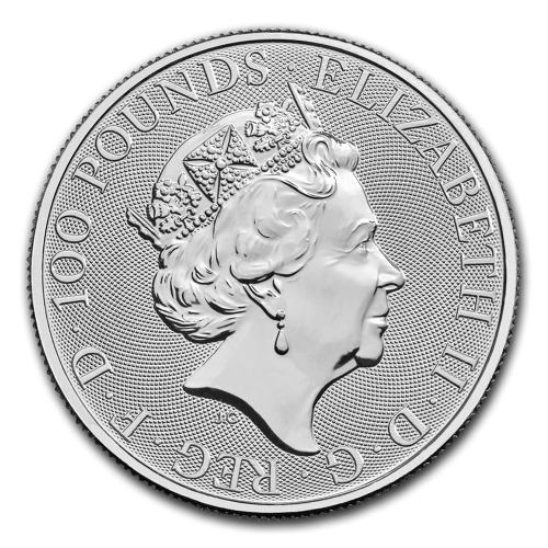2018 Great Britain 1 oz Platinum Queen's Beasts The Dragon