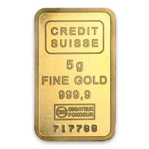 5g Credit Suisse Gold Bar