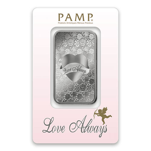 1oz PAMP Silver Bar - Love Always