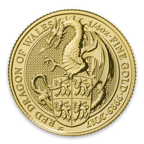 2017 1/4oz Gold Britain Queen's Beasts: The Dragon