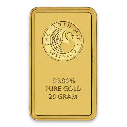 20g Australian Perth Mint gold bar - minted