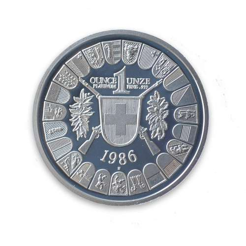 Any Year - Swiss 1oz Platinum Shooting Thaler