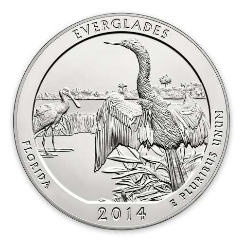 2014 5 oz Silver America the Beautiful Everglades National Park