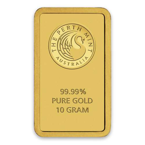 10g Australian Perth Mint gold bar - minted