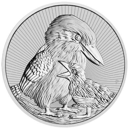 2020 2oz Australian Perth Mint Mother & BabySilver Kookaburra