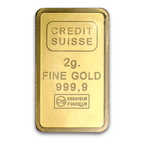 2g Credit Suisse Gold Liberty Bar