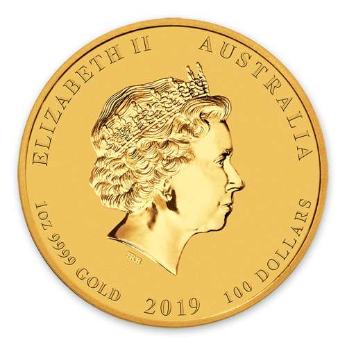 2019 1oz  Australian Perth Mint Gold Lunar Year of the Pig