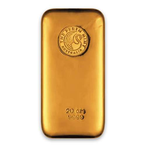 20oz Australian Perth Mint gold bar - cast
