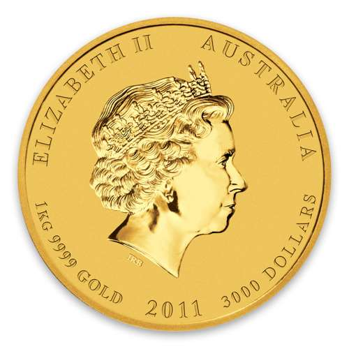 2011 1kg Australian Perth Mint Gold Lunar II: Year of the Rabbit