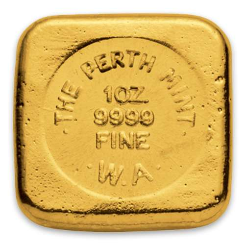 1oz Australian Perth Mint gold bar - cast