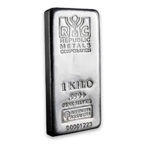 1kg Republic Metals Silver Bar