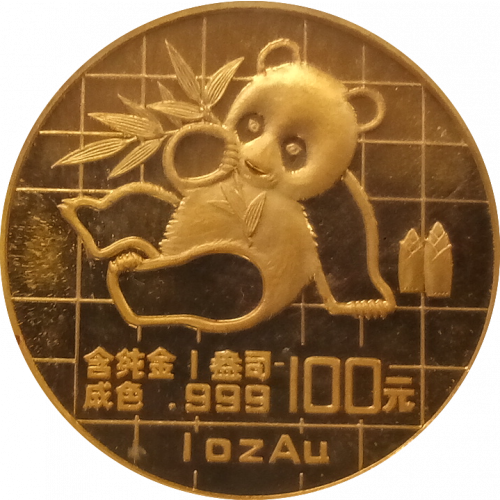 1989 1oz Chinese Gold Panda