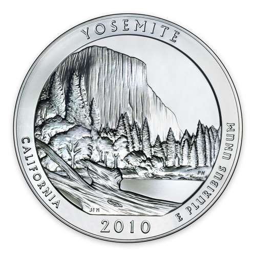 2010 5 oz Silver America the Beautiful Yosemite National Park