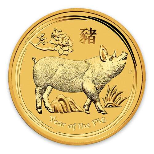 2019 1/20oz  Australian Perth Mint Gold Lunar Year of the Pig