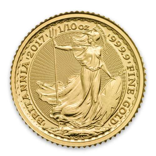 Any Year 1/10oz British Gold Britannia - 9999 (2013-present)