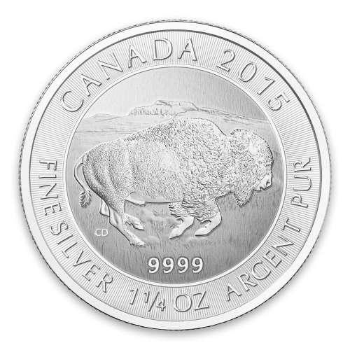 2015 1.25oz Canadian Silver Bison