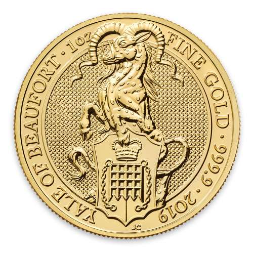 2019 1oz Britain Queen's Beast: The Yale of Beaufort