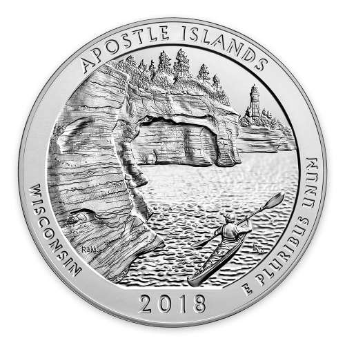 2018 5 oz Silver America the Beautiful Apostle Islands National Lakeshore