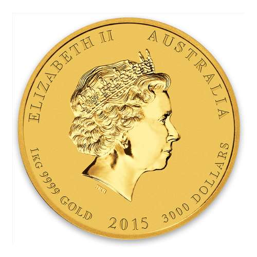 2015 1kg Australian Perth Mint Gold Lunar II: Year of the Goat