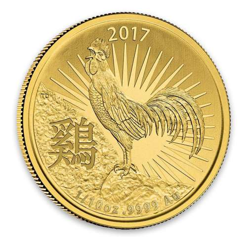 2017 Royal Australian Mint 1/10oz Year of the Rooster