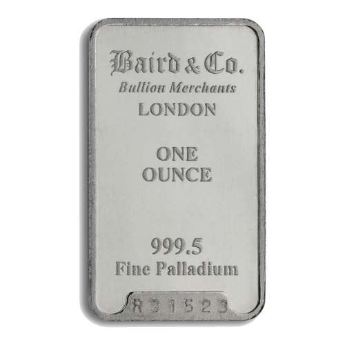 1oz Baird & Co Palladium Minted Bar